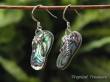 Abalone (Mother of Pearl) Thong Earring set - 925 SOLID Silver hooks