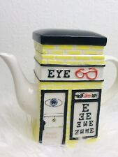 MSRF, INC EYE DOCTOR REAL ESTATE Flower Shop COOKIE JAR CANISTER Yellow