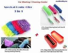 Car Multi-purpose Microfiber Gloves + Carpet Cleaning Brush + Magic Roller Brush