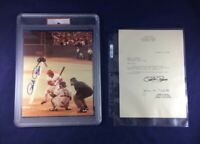 #2 PETE ROSE SIGNED 8X10 #4,192 GEM MINT 10, LETTER! AUTHENTICATED BY PSA/DNA!