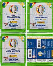 """RARE !! 3 VERSIONS """"COPA AMERICA 2021"""" pochette, bustina, packet, tüte PANINI"""