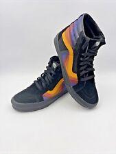 Vans SK8 Hi Refract Reissue Men's 9.5 Women's 11 Black Orange Skateboard Shoes