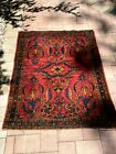 **FAIR CONDITION** 1920 Mahal Oriental Antique Rug, Approx. 4ft.7in.x3ft.6in.