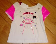 New Girls White Sequined T-Shirt Age 3 Years 98cm