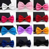 Women Kids Men Baby Tuxedo Party Wedding Prom Evening Adjustable Bowtie Bow Tie