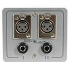 """New Floor / Wall Cable Wire Connection Panel Box (2) Xlr Female and (2) 1/4"""".Pa"""