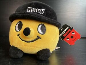 """RARE Yellow Huggable Henry Hoover Plush Soft Toy 6"""" NEW with Tags"""