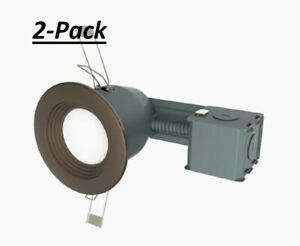 Utilitech 3-in Bronze Ic Baffle Recessed Light Kit 2-Pack