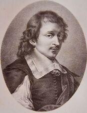 E. LE SUEUR PEINTRE (1617-1655) . Portrait, lithographie de 1821,