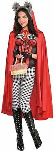 AMSCAN Little Red Riding Hood Cape Halloween Costume Accessories for Women,...