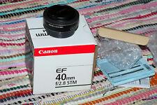 "Canon ef 40mm f/2.8 lente STM ""panqueque"" Prime [excelente Estado]"