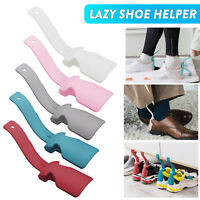 US 2/4Pcs Wear Shoe Horn Lifting Helper Lazy Handled Shoe Horn Easy on&Off Shoes