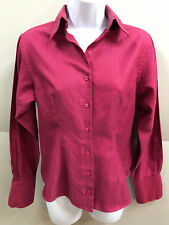 PINK by Thomas Pink London Womens size 8 Herringbone Twill Fitted Shirt Blouse