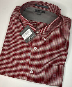 EDDIE BAUER Wrinkle-Free Classic Fit T2XL Mens Long Sleeve Red Check Shirt NWT