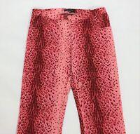Denny rose M w28 tg 42 pantalone bootcut a zampa rosso loose usato  red T1555
