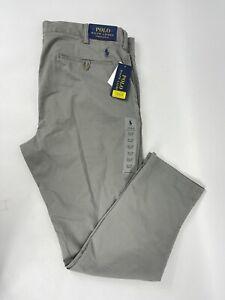 Polo Ralph Lauren Prospect Stretch Slim Straight Fit Pants Grey 36X30 NWT