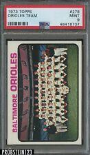1973 Topps #278 Baltimore Orioles Team Card PSA 9 MINT