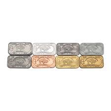 8 x 1 Gram Element Bullion Bars ingots SILVER Zinc Iron Copper TIN + Starter Set