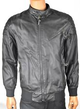 American Rag Brown Faux Leather Jacket New L Motorcycle Coat Large