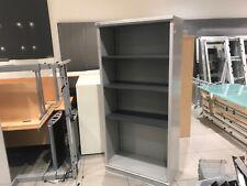 Bisley Tambour Metal Office Storage Cabinet 3 Shelves Bookshelf NO Door WALTON
