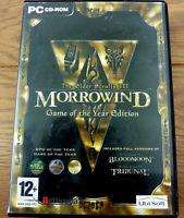 The Elder Scrolls 3 Morrowind BloodMoon & Tribunal for PC 4x CD Roms
