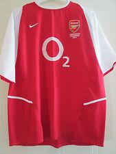 Arsenal 2002-2004 Unbeatable Home Football Shirt Adult Size XL Gunners /40071