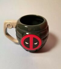 Preowned Deadpool Grenade Marvel Comics Coffee Mug Two Sided
