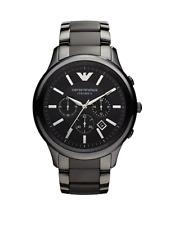 New Emporio Armani Ceramica Chronograph Black AR1451 47mm Wrist Watch for Men