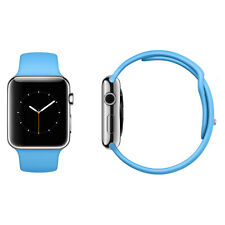 Apple Watch 42mm Stainless Steel Case Blue Sport Band
