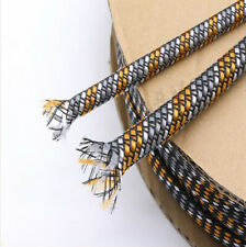 PP Cotton&PET Expandable Braided Sleeving Sheath Audio Cable Wire DIY Modding