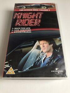 Knight Rider VHS Video 3 Episodes David Hasselhoff