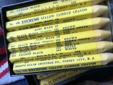 Dixon Lumber Marking Crayons Yellow Five Dozen New Old Stock