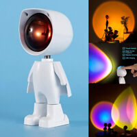 Robot Sunset Lamp Projector LED Night Light Touch Sensor Switch Wall Decorative