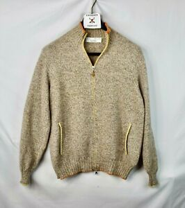 Brunello Cucinelli 100% Cashmere Full Zip Cardigan Sweater Men's L Large 52