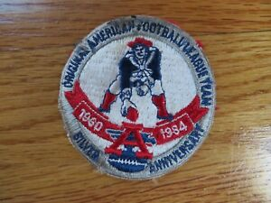 """1960-1984 Silver Anniversary NEW ENGLAND PATRIOTS 3"""" Patch """"PAT The PATRIOT"""""""