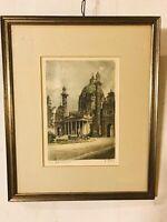 "Charcoal  Drawing Of Church Yard Antique.12""X14"".C10pix4closeup/size. MAKE OFFER"