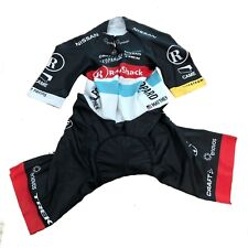 New 2013 Men's Craft Radioshack LIVESTRONG EBC SS Cycling Skinsuit, Black, Sz. M