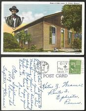 1944 Missouri Postcard - St. Joseph - Jesse James Home