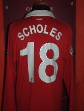 SCHOLES MANCHESTER UNITED 2010/2011 MAGLIA SHIRT CALCIO FOOTBALL MAILLOT JERSEY