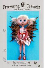 """*NEW* Cloth Folk Art Doll Pattern """"Sheyla"""" By Susan Barmore"""