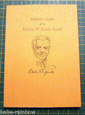 MATTHEW CARTER - HAND SIGNED - FREDERIC GOUDY AWARD 1988 - TYPOGRAPHY FINE COPY