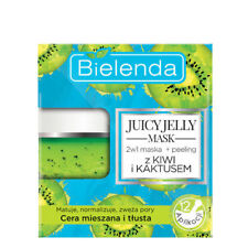 Bielenda JUICY JELLY MASK 2in1 Cleansing & Exfoliating with KIWI & CACTUS 50g