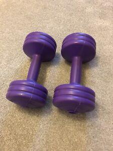 York 3kg Purple Dumbells