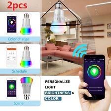 Smart LED Light Bulb WiFi Wireless Color Dimmable RGB+W Lamp 7W E27 B22 AU