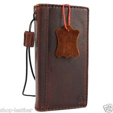 Genuine Natural leather case for iphone 5s 5c Credit cards Slots ID window Slim