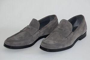 HUGO BOSS Moccasins, Model Classic_Mocc_sd, Size 42 / US 9, Medium Grey