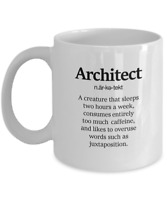 Architect Definition - Funny Architecture Coffee Mug, 11 Oz