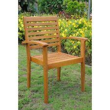 International Caravan Royal Tahiti Oslo Balau Stain Set of 2 Outdoor Chair