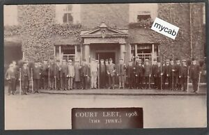 Postcard Market Drayton Shropshire the Corbet Arms Inn pub Court Leet 1908 RP