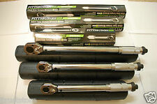 "PITTSBURGH 1/2"" 3/8"" 1/4"" Drive Click Stop Torque Wrench 3-Set New X Accurate"